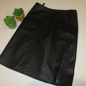 GRACE by Dane Lewis Black Leather Skirt Size 4